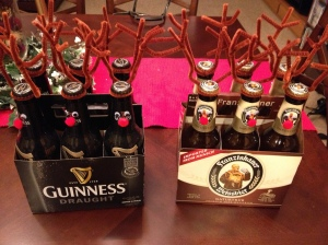 On Dasher, on Dancer, on Prancer, on Guinness... what?