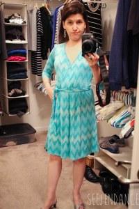Pixley Ohara Faux Wrap Tie-Waist Dress