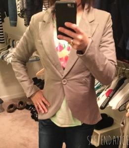 Back to Business Blazer in Gray - February Golden Tote Review