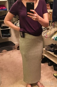 Le Lis Ribbed Skirt - Gray - Golden Tote Review February