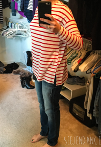 SeeJenDance - Jolie Striped Top with Distressed Jeans - Golden Tote